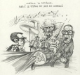 M996.10.500 | Forget Politics, the Jazz Festival Has Started! | Drawing | Serge Chapleau |  |