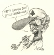 M996.10.62 | Happy Canada Day! Joyeux Canada Jour ! | Drawing | Serge Chapleau |  |