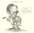 M996.10.645 | Third Period Action: Lloyd, we're on the same team! | Drawing | Serge Chapleau |  |