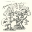 M996.10.668 | The Four Amigos | Drawing | Serge Chapleau |  |