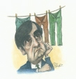 M996.10.7 | Bouchard and the Clothesline | Drawing | Serge Chapleau |  |