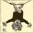 m996.11.178 | Gorbatchev Upside Down on a Tightrope | Drawing | Aislin (alias Terry Mosher) |  |
