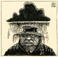 M996.11.24 | Gorbatchev Under a Nuclear Cloud | Drawing | Aislin (alias Terry Mosher) |  |