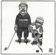 M997.53.93 | Canadiens Coach and Midget Hockey | Drawing | Aislin (alias Terry Mosher) |  |