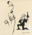 M997.63.239 | Terribly sorry, but I became a politician... | Drawing | Normand Hudon |  |
