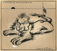 M997.63.75 | The Old Lion Who Became a Floor Mat | Drawing | Normand Hudon |  |