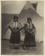 MP-0000.14.11 | Siupakio and Sikunnacio, T'suu T'ina girls, near Calgary, AB, about 1885 | Photograph | William Hanson Boorne |  |