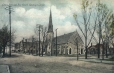 MP-0000.680.14 | Corner of Stone and Pine Streets, Gananoque, ON, about 1910 | Print |  |  |
