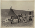 MP-1973.49.3.14 | Astokumi and woman, T'suu T'ina, near Calgary, AB, about 1885 | Photograph | William Hanson Boorne |  |