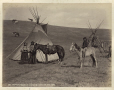 MP-1973.49.3.21 | Mutsinamakan and wife, T'suu T'ina, near Calgary, AB, about 1885 | Photograph | William Hanson Boorne |  |