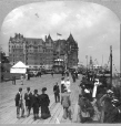 MP-1981.94.5.1 | Dufferin Terrace and Chateau Frontenac, Quebec Tercentenary, Quebec City, QC, 1908 | Photograph | Keystone View Company |  |