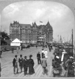 MP-1981.94.5.2 | Dufferin Terrace and Chateau Frontenac, Quebec Tercentenary, Quebec City, QC, 1908 | Photograph | Keystone View Company |  |