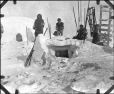 MP-1984.126.157 | Inuit encampment with snow houses, 1920 (?) | Photograph | Anonyme - Anonymous |  |