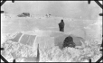 MP-1984.126.158 | The first stage of building an igloo, 1920 (?) | Photograph | Anonyme - Anonymous |  |