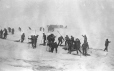 MP-1984.130.216   Seal hunters at work in a snowstorm, 1926-1927, copied in 1970-1980   Photograph   Frederick W. Berchem ?; Captain George E. Mack ?     