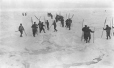 """MP-1984.130.217   """"The final rally"""", men departing for seal hunt, 1927, copied in 1970-1980   Photograph   Frederick W. Berchem ?; Captain George E. Mack ?     """