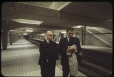 MP-1994.1.2.1038 | Mayor Jean Drapeau and Lucien Saulnier, as the first Metro train passes | Photograph | Frund Jean-Louis |  |
