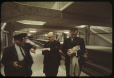 MP-1994.1.2.1050 | Mayor Jean Drapeau and Lucien Saulnier, as the first Metro train passes | Photograph | Frund Jean-Louis |  |
