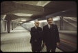MP-1994.1.2.1055 | Mayor Jean Drapeau and Lucien Saulnier, as the first Metro train passes | Photograph | Frund Jean-Louis |  |