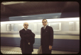 MP-1994.1.2.1061 | Mayor Jean Drapeau and Lucien Saulnier, as the first Metro train passes | Photograph | Frund Jean-Louis |  |