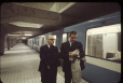 MP-1994.1.2.1064 | Mayor Jean Drapeau and Lucien Saulnier, as the first Metro train passes | Photograph | Frund Jean-Louis |  |