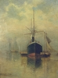 1962.133 | Steamer at Anchor | Painting | Allan Rutherford Wilber |  |
