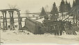 1988.5.7 | View of the Moncton & Buctouche Railway Wreck at Scotch Settlement, New Brunswick | Postcard | J. S. Ross |  |