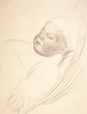 1992.14.23 | Study of an Infant Sleeping | Drawing | Camille Roche |  |