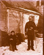 2003.33.14 | Unidentified Military Officer and Child, Belyea Homestead, Cambridge, Queens County, New Brunswick | Photograph | Harry Bulyea, Canadian, born 1873 |  |
