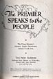 971.062-B47 | The Premier Speaks to the People:  the Prime Minister's January Radio Broadcasts Issued in Book Form | Book |  |  |
