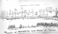 26-4-9 | Sketch of Ramparts and Moat at Ypres | Drawing | Walter M. Draycott |  |