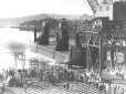 "27-3837 | Launching of the log dumping barge, ""Forest Princess"". 