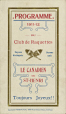 P163_B.01 | 1911-1912 program for the Le Canadien de St-Henri snowshoers' club | Program |  |  |