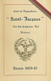 P163_B.02 | 1909-1910 program for the Saint-Jacques snowshoers' club | Program |  |  |