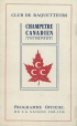 P163_C.02 | Programme of the Champêtre Canadien Snowshoe Club. 1909-1910 Season | Program |  |  |