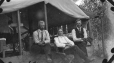 19641119000-111 | Left to right: F. Wyman, T.W. Crofts, E. Hann - trustees at Camp No. 1 - Monarch | Photograph | P.M. Sauder |  |