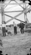 19641119000-114 | Trustees at the Willow Creek flume trestle - Macleod | Photograph | P.M. Sauder |  |