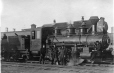 19760234089   Men next to Alberta Railway and Irrigation Company engine No. 1, AB, about 1908   Photograph        