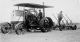 19891049065   Plowing with an early gasoline powered tractor   Photograph   Anonyme - Anonymous     
