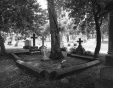 M2001.60.27 | Colonel Hamilton's grave in Mount Royal Cemetery, Montreal, QC, 2000. After Notman (VIEW-8760) | Photograph | Andrzej Maciejewski |  |