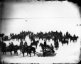 I-43926 | Royal Artillery on ice at Hochelaga, near Montreal, QC, 1870 | Photograph | William Notman (1826-1891) |  |