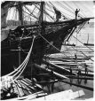 I-76319.2 | Loading ship with square timber through the bow port, Quebec City, QC, 1872 | Photograph | William Notman (1826-1891) |  |