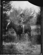 II-173812.0 | Cowboy on horseback with rifle, copied for William Glenn in 1909 | Photograph | Anonyme - Anonymous |  |