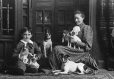 II-92739 | Miss McKenzie, brother and dogs, Montreal, QC, 1890 | Photograph | Wm. Notman & Son |  |