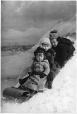 II-97009 | Mrs. Belcher's children tobogganing, Montreal, QC, 1892 | Photograph | Wm. Notman & Son |  |