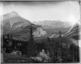 VIEW-1638 | Vue de la vallée de la rivière Bow depuis les sources thermales Upper Hot Springs, Banff, Alb., 1887 | Photographie | William McFarlane Notman |  |
