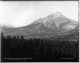 VIEW-1640 | Vue du mont Cascade depuis la route des sources thermales Upper Hot Springs, Banff, Alb., 1887 | Photographie | William McFarlane Notman |  |