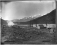 VIEW-1659 | West view from hotel, Field, BC, 1887 | Photograph | William McFarlane Notman |  |