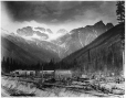 VIEW-1687.1 | Hermit range from summit, Glacier Park, BC, 1887 | Photograph | William McFarlane Notman |  |