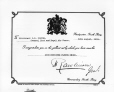 VIEW-17497.A | Certificate for Distinguished Flying Cross awarded to G. B. Foster, 1918 | Photograph | Wm. Notman & Son |  |